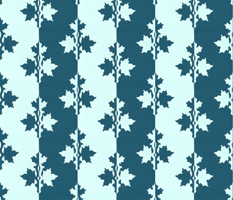 DARK-BLUE-TEAL_counterchange_stripe_papercut_aqua fabric by mina on Spoonflower - custom fabric