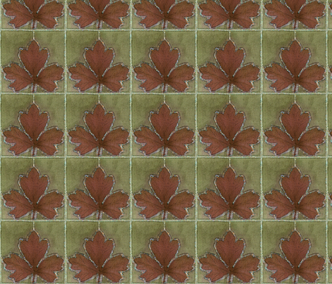 dye-paint-leaf-crop-OLIVE-BRN fabric by mina on Spoonflower - custom fabric
