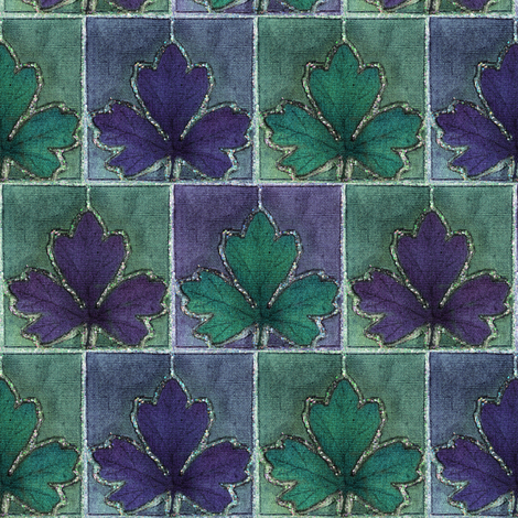 BLUE-VIOLET_dye-paint-leaf_crop-fabric fabric by mina on Spoonflower - custom fabric