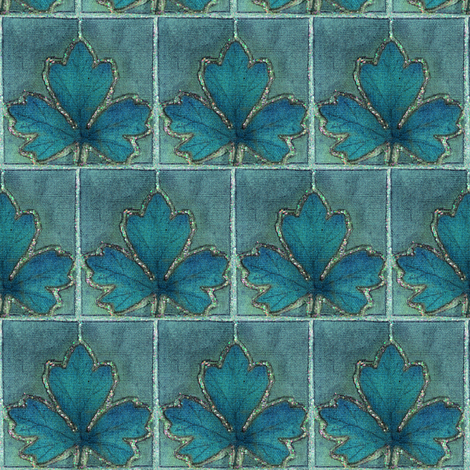 dye-paint-leaf-crop--BLGRN-MGRN fabric by mina on Spoonflower - custom fabric