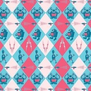 Robots: Pink & Blue