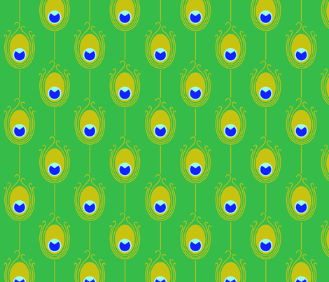 Green Peacock fabric by birdnerd on Spoonflower - custom fabric