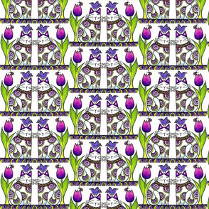 BIRD BRAIN 05.Twins In the Tulips Columns.