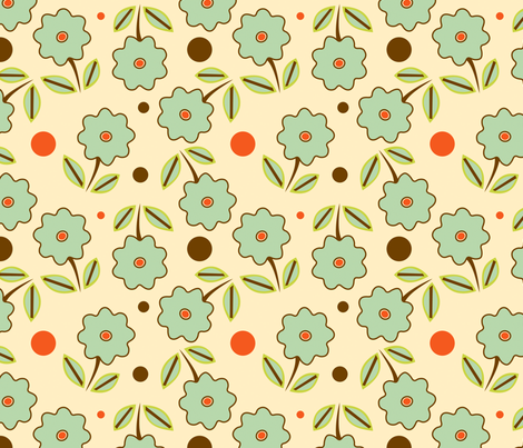 floralpattern1 fabric by taniashaw on Spoonflower - custom fabric