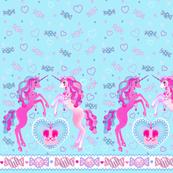 19 inch Baby Blue Unicorn Fantasy Print