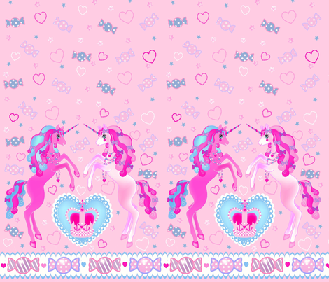 19 inch Pastel Pink Unicorn Fantasy Print fabric by pinkmacaroon on Spoonflower - custom fabric