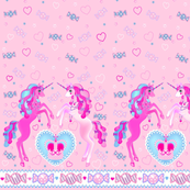 19 inch Pastel Pink Unicorn Fantasy Print