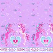 19 inch Lavender Unicorn Fantasy Print