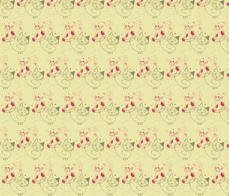 Crazy Cats fabric by lulakiti on Spoonflower - custom fabric
