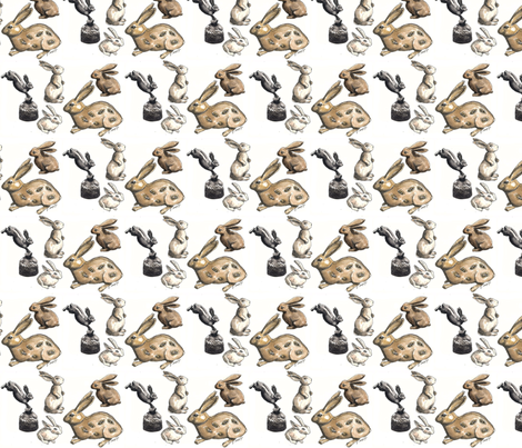 Rabbit Collection by Jane LaFazio fabric by jane_lafazio on Spoonflower - custom fabric