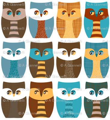 "5"" owls, owls, and more owls"