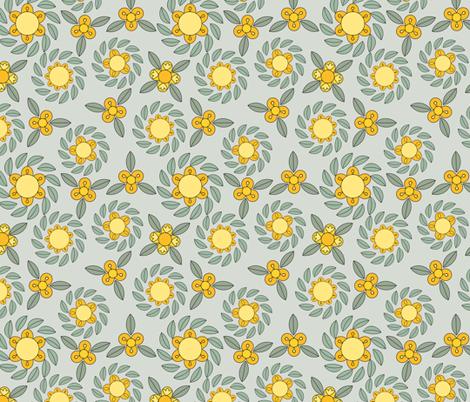 retro flowers fabric by suziedesign on Spoonflower - custom fabric