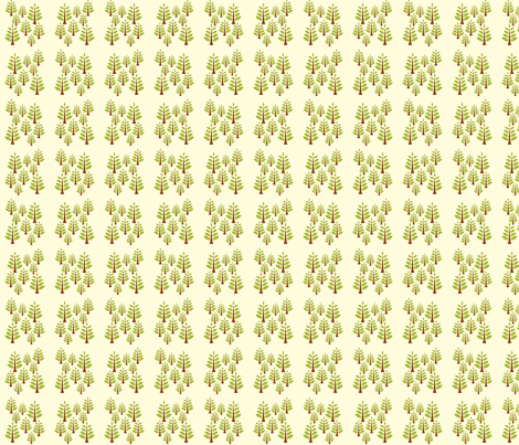 Green Trees fabric by applesandorange on Spoonflower - custom fabric