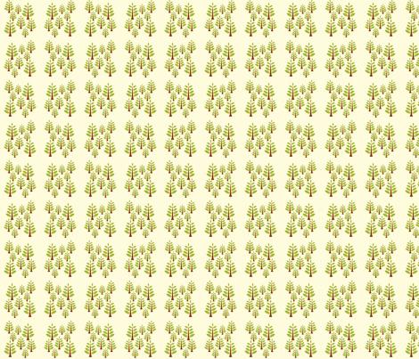 Green Trees fabric by applesandorange on Spoonflower - custom fabric
