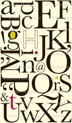 alphabet: red-lime