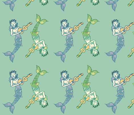 Sirenas fabric by jokers_r_wild on Spoonflower - custom fabric