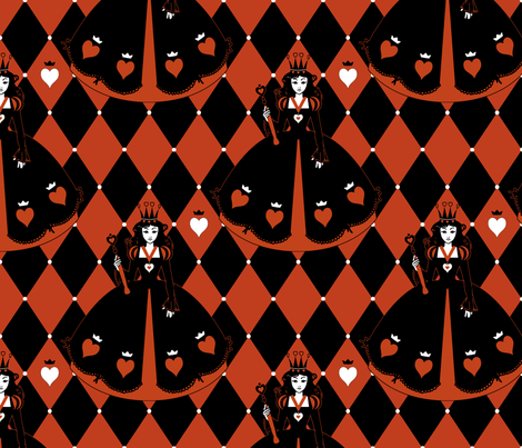 Queen of Hearts Red Diamond fabric by ophelia on Spoonflower - custom fabric