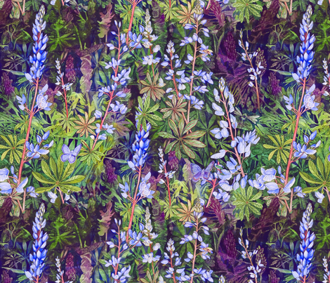 Karners Love Lupine fabric by helenklebesadel on Spoonflower - custom fabric