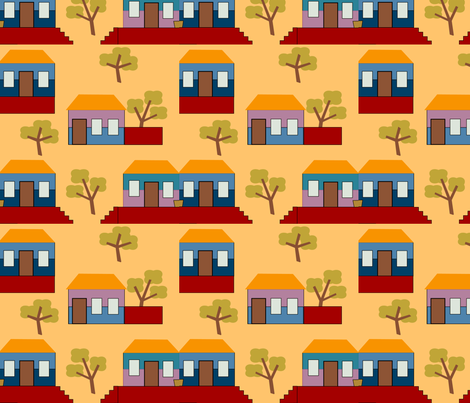 casitas fabric by jokers_r_wild on Spoonflower - custom fabric