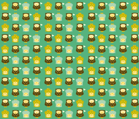 earthyowlslab fabric by luckyapple on Spoonflower - custom fabric