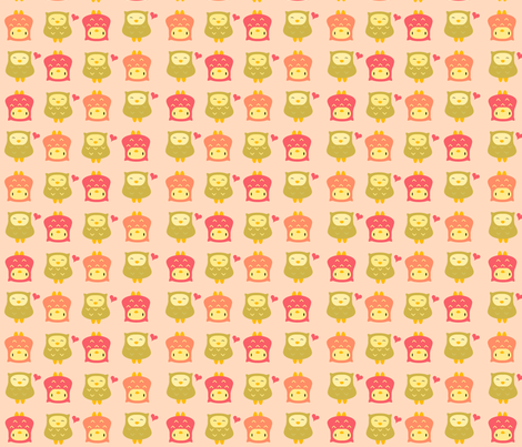 pinkolive fabric by luckyapple on Spoonflower - custom fabric