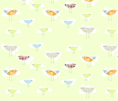 birdies fabric by sweetwaterbaby on Spoonflower - custom fabric