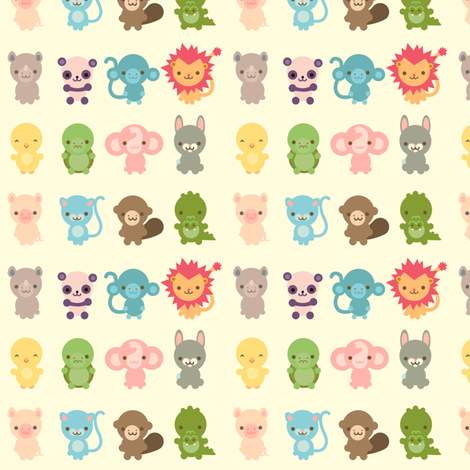 Cute Creatures fabric by indescribble on Spoonflower - custom fabric