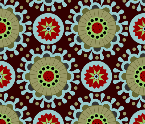 karneval in brown fabric by renule on Spoonflower - custom fabric