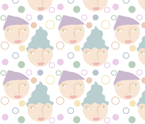 calmhats fabric by vo_aka_virginiao on Spoonflower - custom fabric