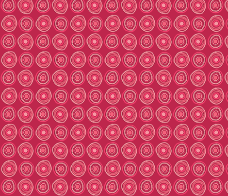 messy target, pink fabric by natalie on Spoonflower - custom fabric
