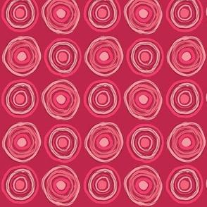 messy target, pink