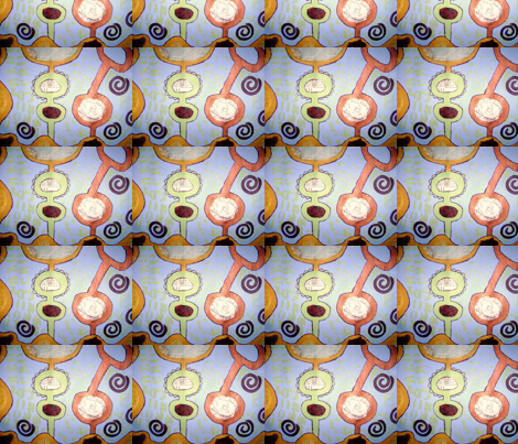 Diary of a Travel Girl fabric by shebaduhkitty on Spoonflower - custom fabric