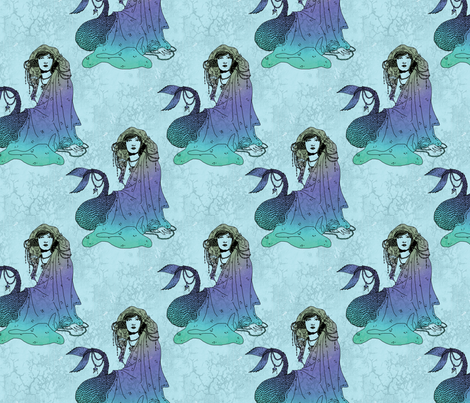 Mermaid Blue fabric by ophelia on Spoonflower - custom fabric