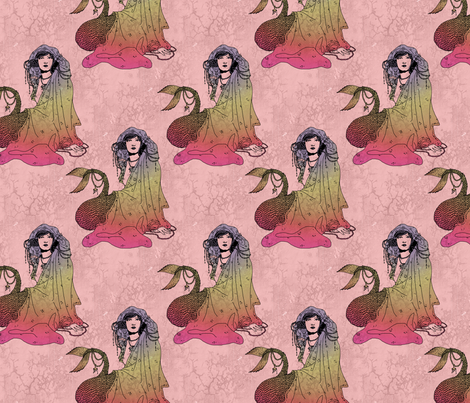 Mermaid Pink fabric by ophelia on Spoonflower - custom fabric