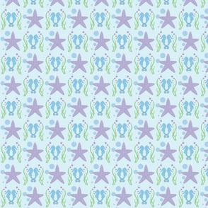 seahorse & starfish