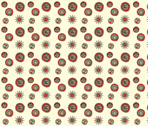 Around the garden fabric by tailorjane on Spoonflower - custom fabric