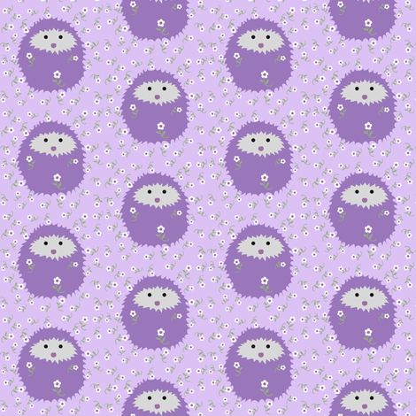 Lavender Hedgies fabric by vo_aka_virginiao on Spoonflower - custom fabric