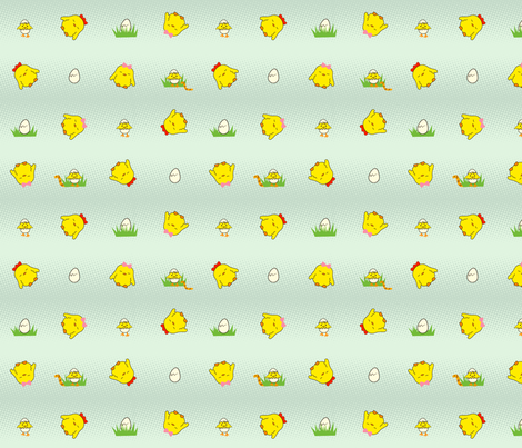 Spring Chicks fabric by plushplay on Spoonflower - custom fabric