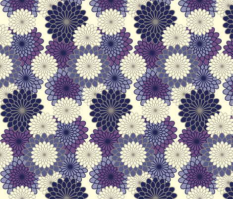 mums fabric by nightgarden on Spoonflower - custom fabric