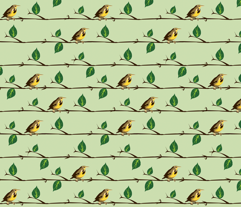 westernmeadowlark fabric by nightgarden on Spoonflower - custom fabric