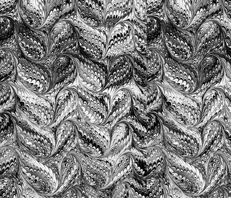 marble_bw150 fabric by charrmer on Spoonflower - custom fabric