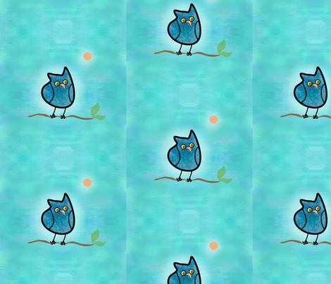 owl_fabric_vo fabric by vo_aka_virginiao on Spoonflower - custom fabric