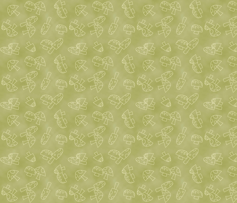 Gnome Toadstools/Mushrooms fabric by weefolkart on Spoonflower - custom fabric