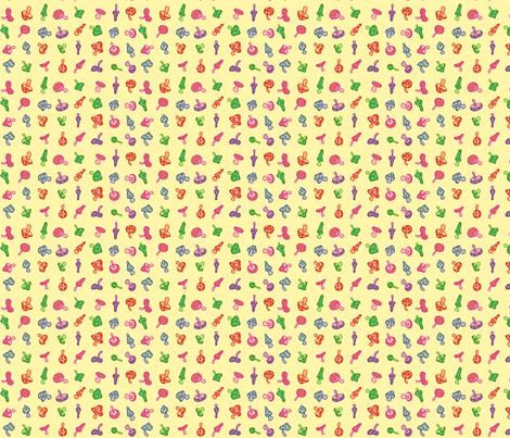 Mushies fabric by beeskneesindustries on Spoonflower - custom fabric