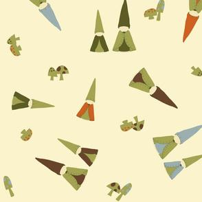 Large Tumbling Peg Gnomes