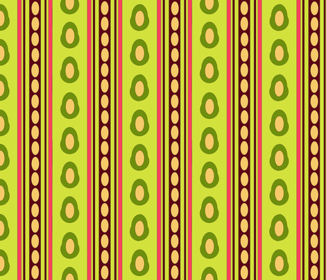 Aguacatitos_Stripe_Bright_Green fabric by amadasflores on Spoonflower - custom fabric