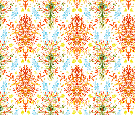 spring damask fabric by katie_daisy on Spoonflower - custom fabric