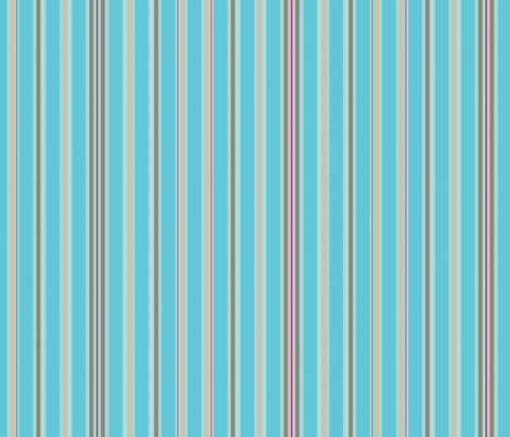 Robot Garden Stripes fabric by jackieatweelife on Spoonflower - custom fabric