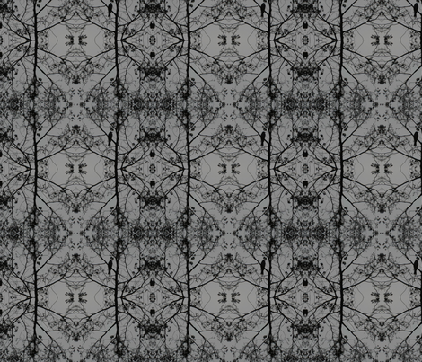 Bird_in_Black_Tree fabric by bard_judith on Spoonflower - custom fabric