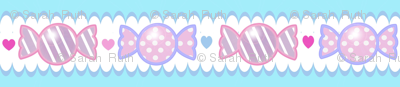 Unicorn Fantasy Candy Border Pastel Blue